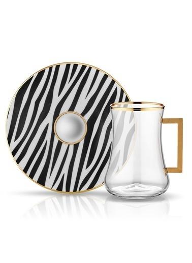 Dervish Kulplu Çay St 6'lı Zebra-Koleksiyon